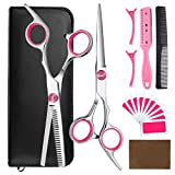 9pcs Hair Cutting Tool Hairdressing Kit Haircut Cape Scissors Thinning Shear Comb Hairpin