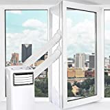 Uong Window Seal Air Conditioning, 400CM Universal Window Seal for Portable Air Conditioning Unit And Dryer, Easy to Install, with Tape and Zipper Design - No Need For Drilling Holes