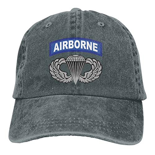 A-irborne W-ings with Tab Classic Adult Cowboy Hat with Adjustable Curved Brim