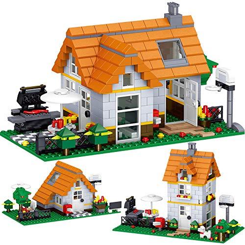 Creator Design Series Building Blocks, Cube World Small Static Building Blocks, Wilderness Leisure House, Model Ladrillos, Juguetes de vacaciones para niños y regalos