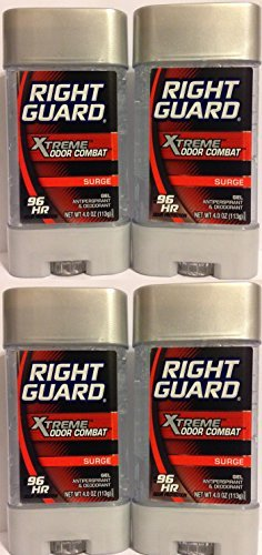 Right Guard Antiperspirant & Deodorant For Men - Gel - Xtreme Odor Combat - Surge Scent - Net Wt. 4 OZ (113 g) Per Stick - by Right Guard