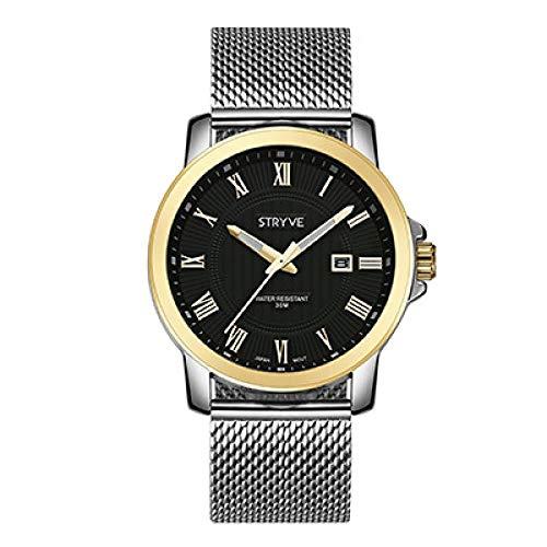 Relojes Hombre,Reloj De Cuarzo De Moda para Hombre Reloj Digital Dorado.