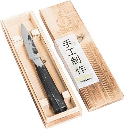 Forged Intense Schälmesser 9cm, handgefertigt, in Holzkiste