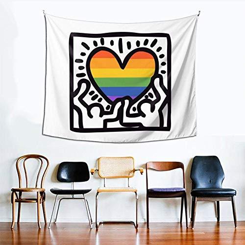 WYFCLHH Tapiz para decoración de pared en blanco y negro, diseño de niña y niño, para colgar en la pared, dormitorio o sala de estar, 140 x 140 cm
