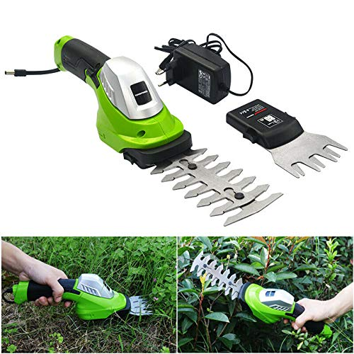 Great Price! TOPCHANCES Handheld Grass Trimmer Cordless, Electric 7.2V 2 in 1 Rechargeable Lithium-i...