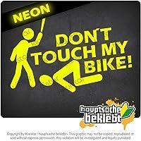 私の自転車に触れないでください! Do not touch my bike! 15cm x 10cm 15色 - ネオン+クロム! ステッカービニールオートバイ