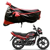 AdroitZ Bike Body Cover for Hero Passion Pro (Black and Red)