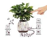 Envolve Music Flower Pot, LED Smart Touch Music Vaso di Fiori con Altoparlante...