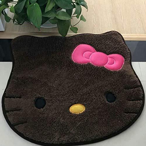 DJLHN Hello Kitty Alfombrilla de baño Gamuza Antideslizante Absorción de Agua Alfombra...