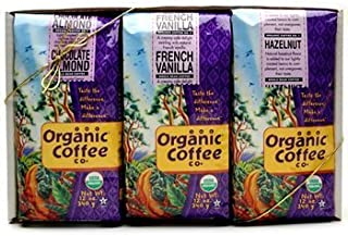 The Organic Coffee Company, Flavored Organic Coffee Sampler Gift Pack