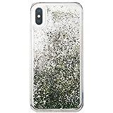 iPhone8Plus ケース スマホケース キラキラ TPU クリア 流れる ラメ グリッター シルバー スマ……
