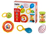 Halilit My First Baby Band Gift Set. Musical Instrument for Babies includes Egg Shaker, Cage Bell, B...