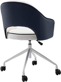 Silla Escritorio Silla ejecutiva de cuero para el hogar, silla de estudio para niños con apoyabrazos de soporte lumbar para escritorio para niños, productos de oficina, azul Ergonómica Silla De Orde