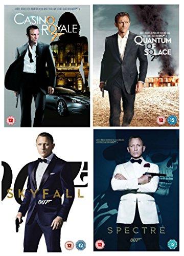 The Complete 007 - Daniel Craig James Bond DVD Movie Collection: Casino Royale / Quantum of Solace / Skyfall / Spectre