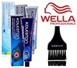 Wella KOLESTON Perfect Permanent Creme Haircolor, 2 oz (with Sleek Tint Brush) (12/89 Special Blonde/Pearl Cendre)