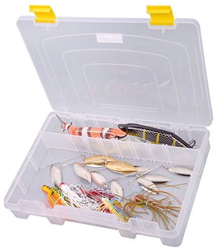 Spro Boîte à pêche Tackle 28 x 20 x 4,5 cm - Pour leurres et poissons en caoutchouc