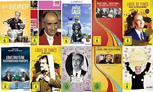 10 Filme - Louis de Funes - Mega Collection – Querkopf, Balduin, Große Sause, Schlitzohr, Geizkragen, die ausserirdischen Kohlk