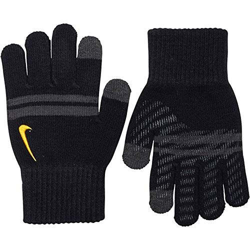 Nike Handschuhe Knit Tech and Grip Jugendliche Jungen Schwarz & Grau Gr. Medium, Schwarz
