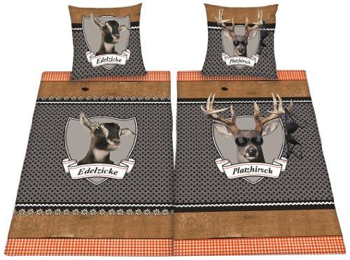 *Herding 445958250 Partner-Bettwäsche Platzhirsch/Edelzicke im Doppelpack*