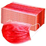 SupeRogie Adult Disposable Face_Mask,Face Covering for Outdoor Masquerade Sports Party Holiday-RED-10-200 PCS