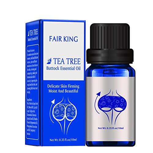 Olio per il miglioramento del sedere per Sexy Lady Hip Lift Up, Olio essenziale dell\'albero del tè per massaggio natico Olio delicato per il corpo per rassodare e idratare la pelle, 10 ML