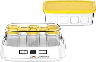 SEB Yaourtiere2 avec écran LCD 2 Programmes Automatique Yaourt 8 Pots Fromage Blanc Frais 1 L Livret de Recettes Inclus...