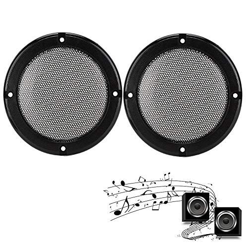 2 stks 5 inch speaker decoratieve covers metalen audio subwoofer cirkel mesh cover beschermende grille voor speaker auto speaker (zwart + zwart)