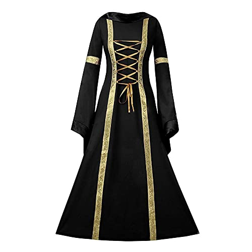 a22ef3db9e9 NiuBia Womens Deluxe Medieval Dress Renaissance Costumes Victorian Irish  Over Long Dress Cosplay Retro Gown