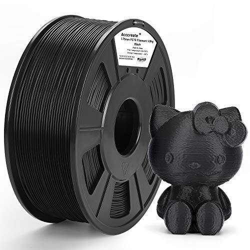 Weistek PETG 1.75mm Filament for 3D printer, 1KG(2.2lb) PETG 3D Printer Filament, Dimensional Accuracy +/- 0.02 mm, 1 kg Spool, 1.75 mm, (Black)