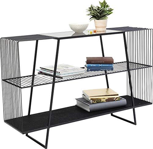 Kare Design Regal Mesh, modernes Regal, schwarze Konsole, offenes Sideboard, (H/B/T) 78x120x31,5cm