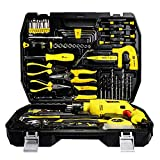 SSCYHT Juego de Herramientas mecánicas Kit Combinado de Herramientas eléctricas, Juego de taladros para Herramientas eléctricas domésticas(Ideal para el hogar, el Garaje o el automóvil)