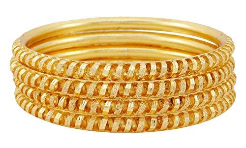 Banithani Ethnischen Indischen Traditionellen Armreifen Set 18K Vergoldet Bollywood Designer Armband 2 * 8