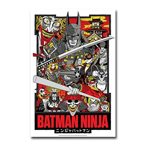 yangchunsanyue Affiche Batman Ninja DC Film d'animation Affiche Murale Art décor Autocollant 40x50cm No Frame U-1799