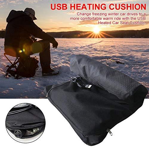 lembrd Verwarmd zitkussen | Auto verwarmingskussen - USB automatisch opblaasbaar auto verwarmde zitkussen voor de winter buiten vissen ski - 30x40cm