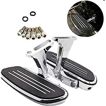 Green-L Chrome Streamline Passenger Foot Floor Board Fit For Harley Touring Road Street Glide Electra Classic FLHTC 1993-2020