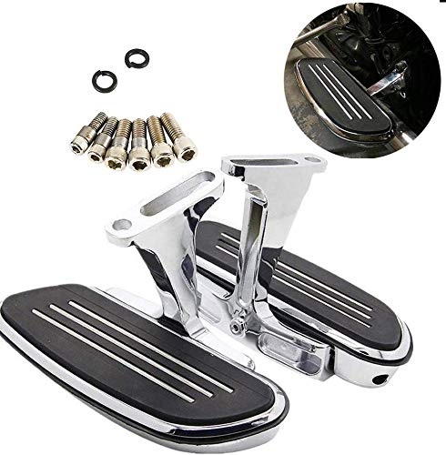 XMT-MOTO Black and Rubber Custom Footpegs univeral fit for Harley Davidson models with male mount-style footpeg supports