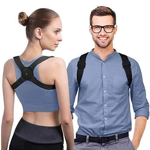 konjac Rücken Geradehalter zur Haltungskorrektur, Schultergurt Haltungskorrektur für Herren Damen Haltungstrainer, Rückentrainer Rückenstütze Verstellbar