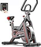 Bicicleta de ejercicio con volante de inercia con correa y resistencia ajustable para uso en el hogar y en el gimnasio, entrenamiento cardiovascular