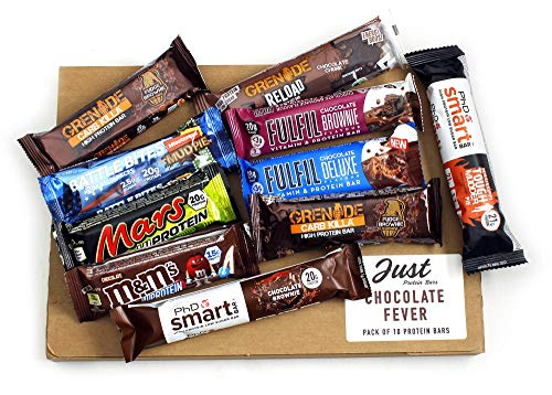 Chocolate Fever - Selection of The Most Loved Protein Bars from; Grenade, PhD, Fulfil, Battle Bites & Mars