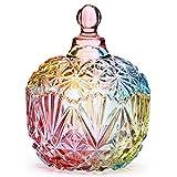Danmu Art Bombonera Cristal Tarro de Vidrio Storage Tarro de Almacenamiento Plato de Caramelo Caja 260ml