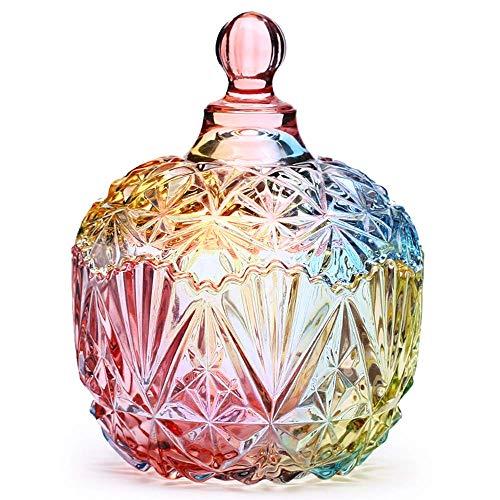 Danmu Art Bombonera Cristal Tarro de Vidrio Storage Tarro de