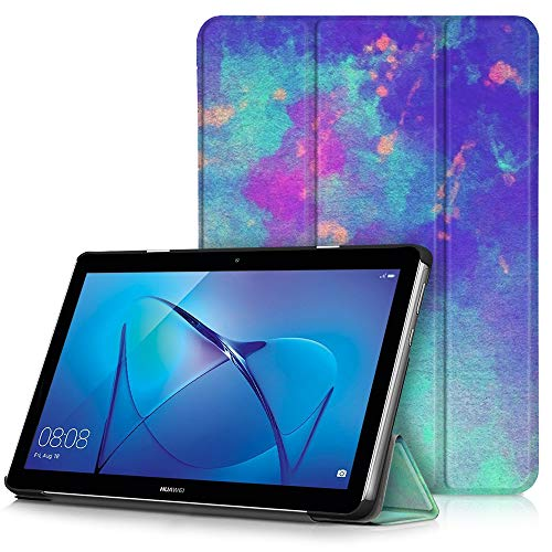 EasyAcc Hülle für Huawei Mediapad T3 10 Hülle, Ultra Schlank Schutzhülle Hülle mit Zwei Einstellbarem Standfunktion Für Huawei MediaPad T3 10 (9,6 Zoll),Regenbogen