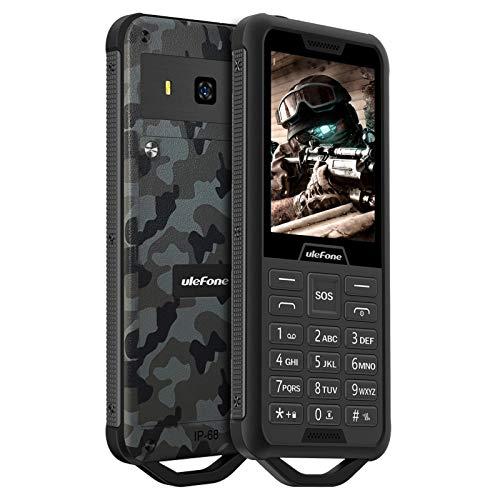 Ulefone Armor Mini 2 - Teléfono Móvil de Fácil Uso, Móvil Resistente IP68 Impermeable Robusto, Pantalla 2,4', Teclas Grandes, Batería 2100mAh, 2G Dual SIM, Cámara, Radio FM, MP3, Boton SOS, Linterna
