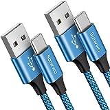 Câble USB Type C [1m, Lot de 2], Baiwwa Durable Cable USB C Chargeur Rapide 3A, Charge USB-C Nylon...