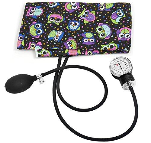 Prestige Medical Premium Adult Aneroid Sphygmomanometer, Party Owls Black