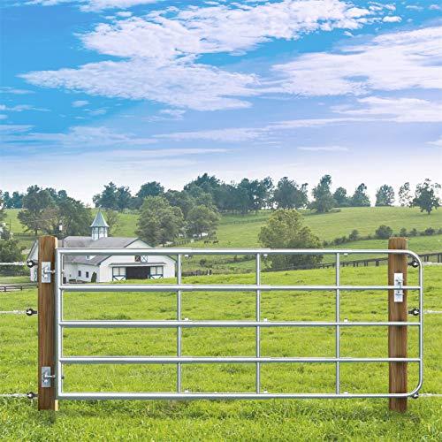 VOSS.farming Weidezauntor Verstellbar, inkl. Montageset, Verzinkt für Weidezaun, Höhe 90cm, Breite 1,15m bis 3,00m, Gatter, Weidetor