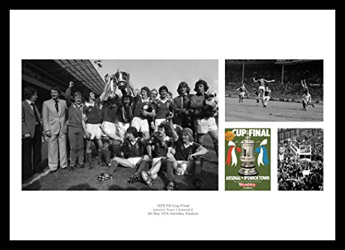Home of Legends Framed Ipswich Town 1978 FA Cup Final Photo Montage Memorabilia
