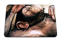 26cmx21cm マウスパッド (頭下の猿) パターンカスタムの マウスパッド
