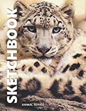 """Sketchbook: 8.5""""x11"""", Blank Paper for Drawing, Sketching, Doodling & Creative Writing, Animal Series - Snow Leopard"""