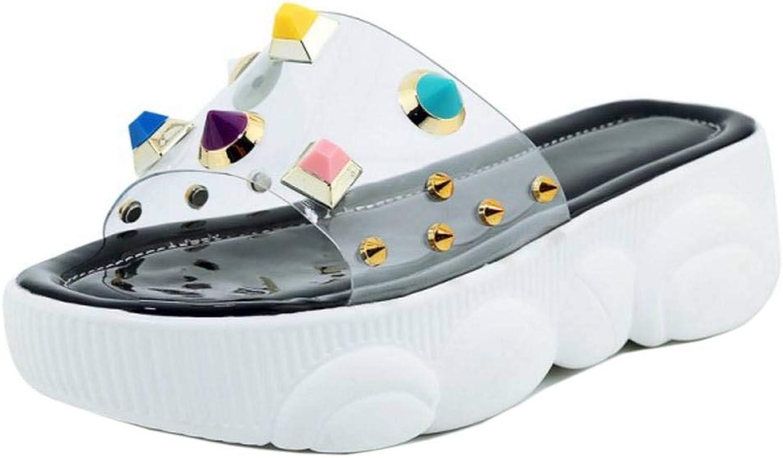 CularAcci Women Fashion Mid Heel Slide Sandals